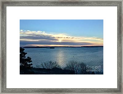 Sunday Sunrise On Casco Bay Framed Print