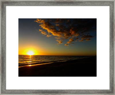 Sunday Sunset Redington Beach Framed Print