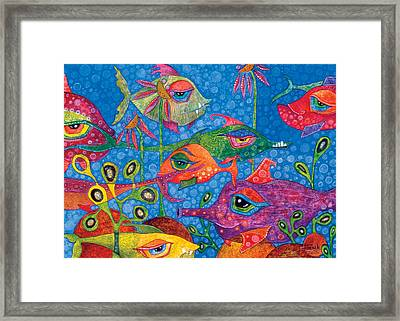 Sunday Swimmers Framed Print by Tanielle Childers