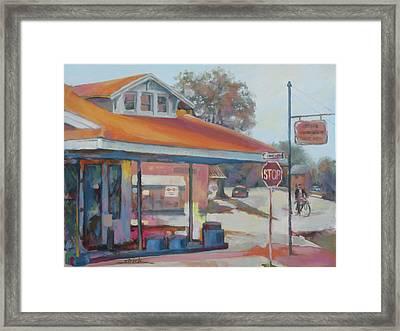 Sunday Traffic Framed Print by Carol Strickland