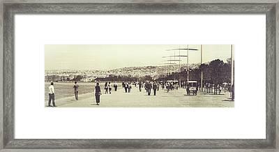 Sunday Walk In Greece Framed Print