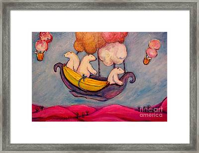 Sundays' Bears Framed Print by Susan Brown    Slizys art signature name