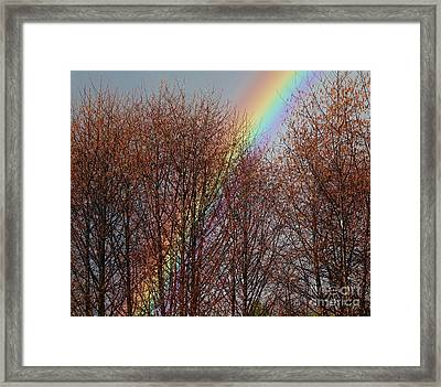Framed Print featuring the photograph Sunday's Rainbow by Laura  Wong-Rose