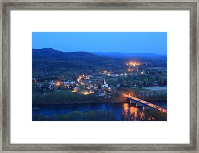 Sunderlight At Twilight From Mount Sugarloaf Framed Print