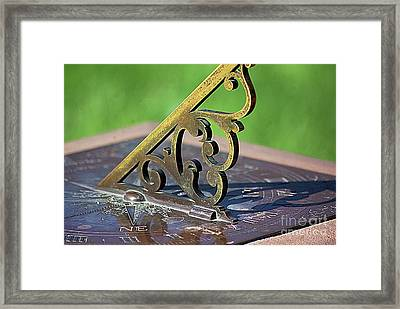 Sundial In The Garden Framed Print