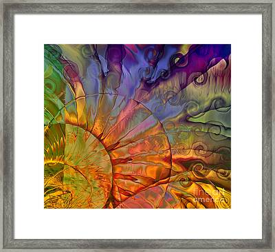 Sundial Framed Print by Mindy Sommers