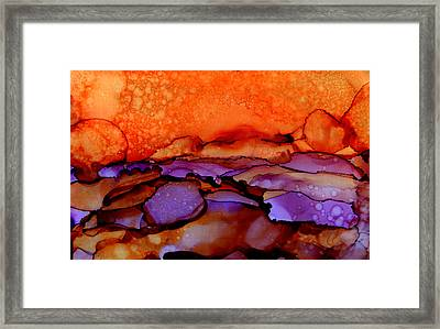 Sundown - Abstract Landscape Painting Framed Print by Michelle Wrighton