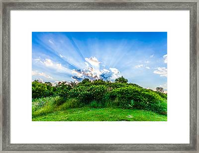 Framed Print featuring the photograph Sundown by Anthony Rego