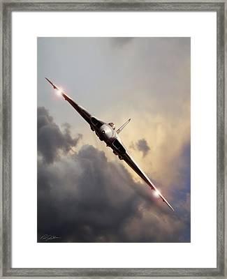 Sundown Approach Framed Print by Peter Chilelli