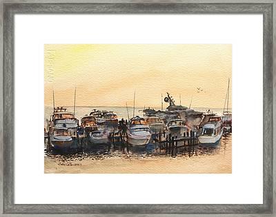 Sundown At Destin Framed Print