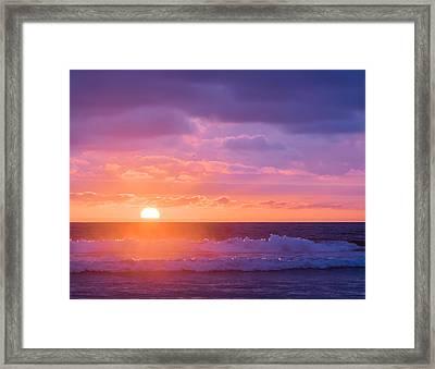Sundown At Oceanside Beach - Sunset Photograph Framed Print by Duane Miller