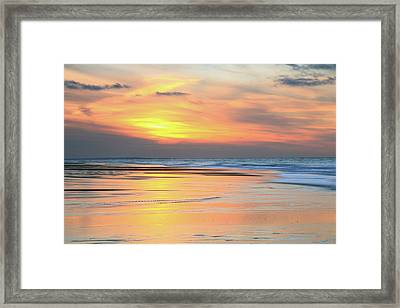 Framed Print featuring the photograph Sundown At Race Point Beach by Roupen  Baker