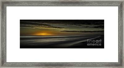 Sundown At Santa Rosa Beach Framed Print