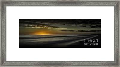Sundown At Santa Rosa Beach Framed Print by Walt Foegelle