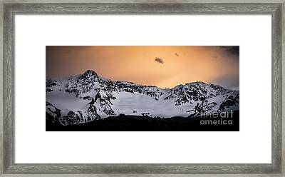 Framed Print featuring the photograph Sundown At Sneffels Range by The Forests Edge Photography - Diane Sandoval