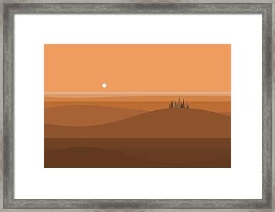 Sundown Browns Framed Print