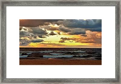 Sundown Framed Print by Dani McEvoy