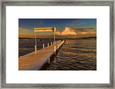 Sundown - Lake Geneva Wisconsin Framed Print by Ben Thompson