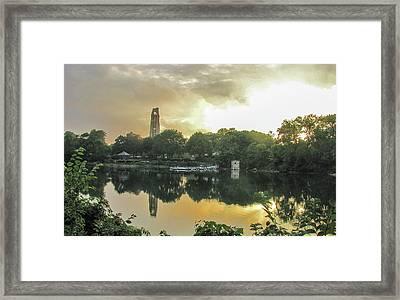Sundown At The Riverwalk Quarry Framed Print