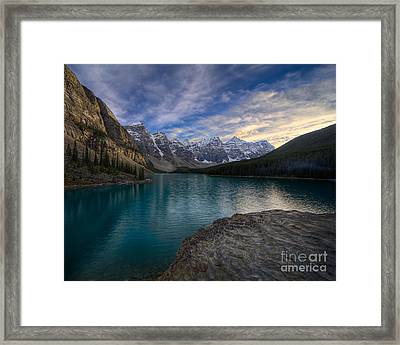 Sundown On The Rocks Framed Print