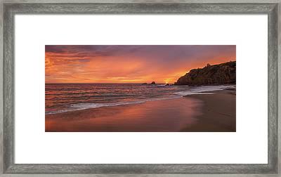 Sundown Over Crescent Beach Framed Print