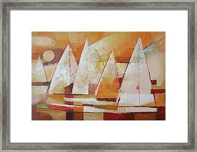 Sundown Regatta Framed Print
