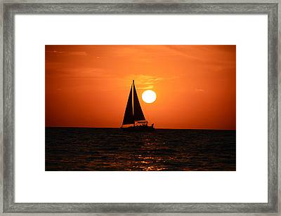Sundown Sailors Framed Print