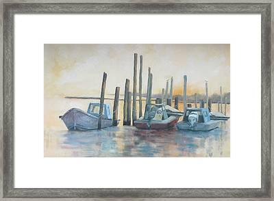 Sundown Stillness Framed Print