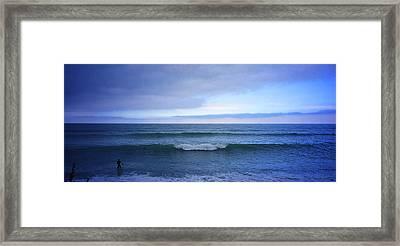 Sundown Surfer Framed Print