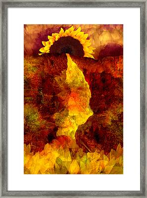 Framed Print featuring the digital art Sundown by Tom Romeo