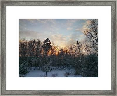 Sundown Winter New England Framed Print