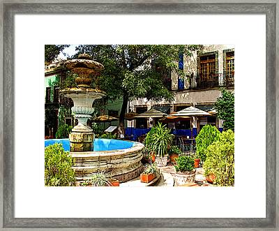 Sundrenched Plaza 3 Framed Print by Mexicolors Art Photography