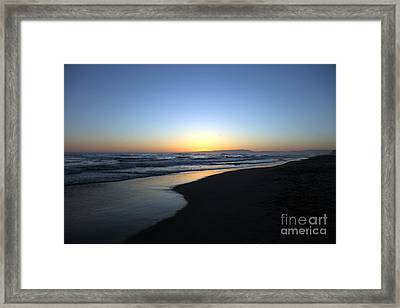 Sunet Beach Framed Print by Amanda Barcon