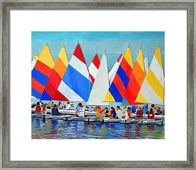 Sunfish Camp Framed Print by Keith Wilkie