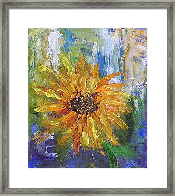 Sunflower Abstract Framed Print by Barbara Harper