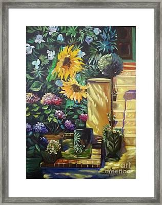 Sunflower Aloha Framed Print