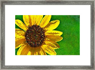 Sunflower Art Framed Print