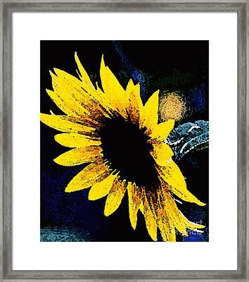 Sunflower Art  Framed Print by Juls Adams