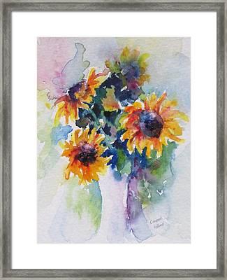 Sunflower Bouquet Framed Print by Corynne Hilbert