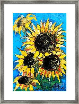 Sunflower Bouquet Framed Print by Mona Edulesco