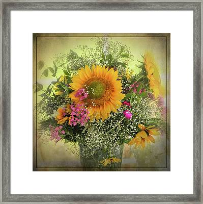 Framed Print featuring the photograph Sunflower Bouquet by Expressive Landscapes Fine Art Photography by Thom