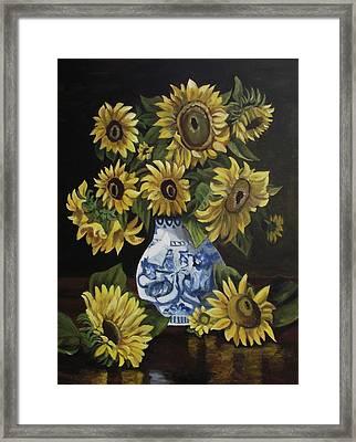 Sunflower Bouquet Framed Print by Kim Selig