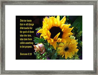 Sunflower Bouquet  Framed Print by Linda Phelps
