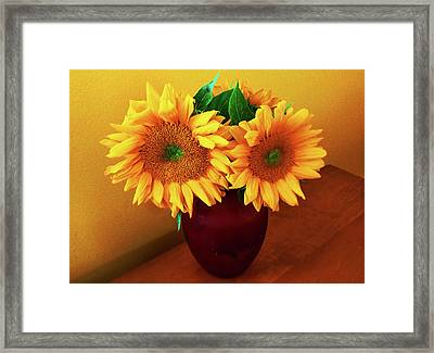 Sunflower Corner Framed Print