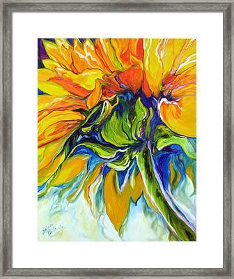 Sunflower Day Framed Print by Marcia Baldwin