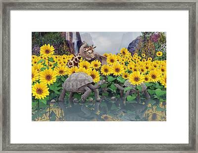 Sunflower Daydream  Framed Print by Betsy Knapp