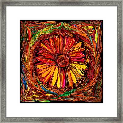 Sunflower Emblem Framed Print