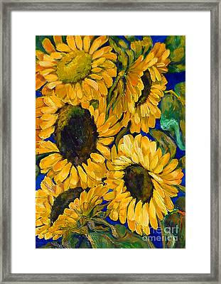 Sunflower Faces Framed Print