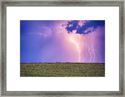 Sunflower Field Thunderstorm Framed Print by James BO Insogna