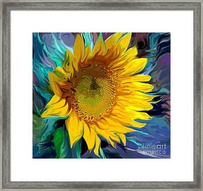 Sunflower For Van Gogh Framed Print